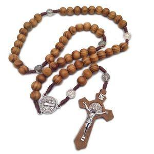 Jewelry - Men Women Christ Wooden Beads 10mm Rosary Bead